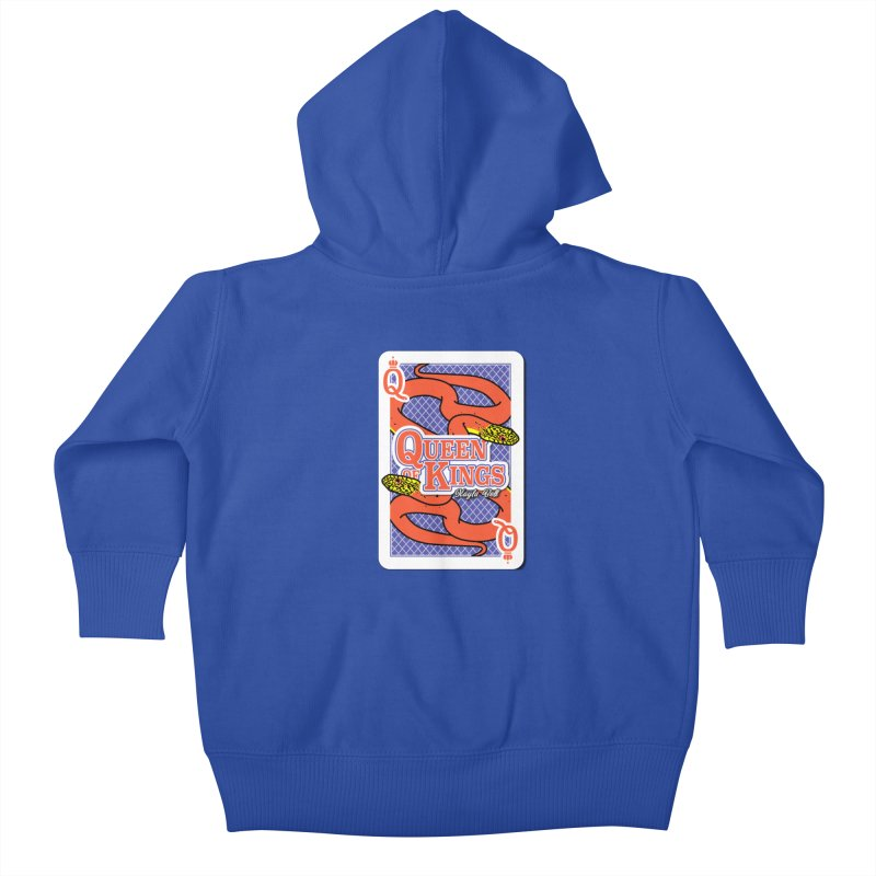 Queen of Kings Kids Baby Zip-Up Hoody by Drawn to Scales