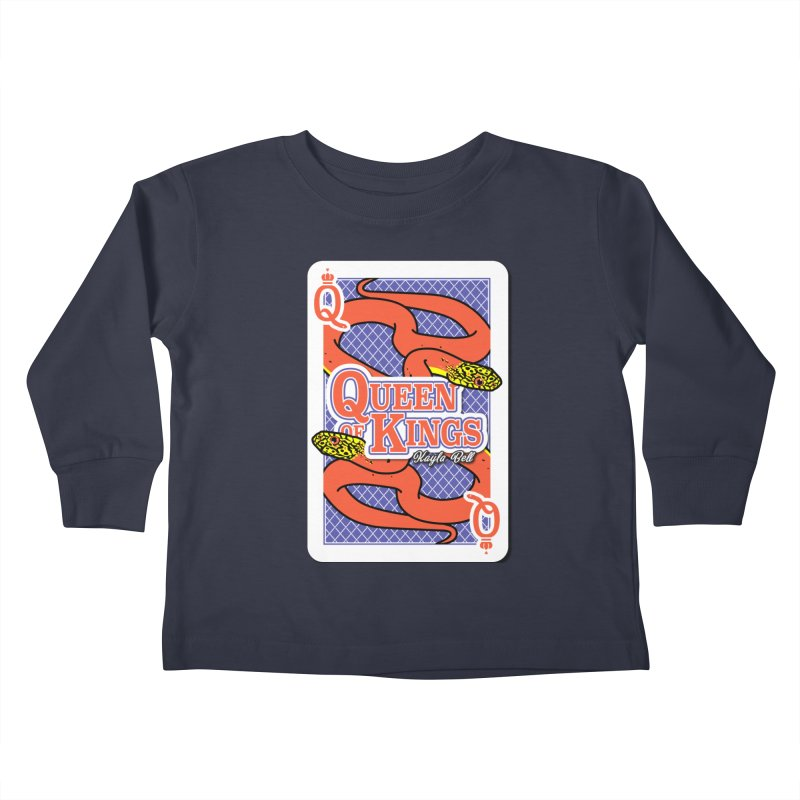 Queen of Kings Kids Toddler Longsleeve T-Shirt by Drawn to Scales