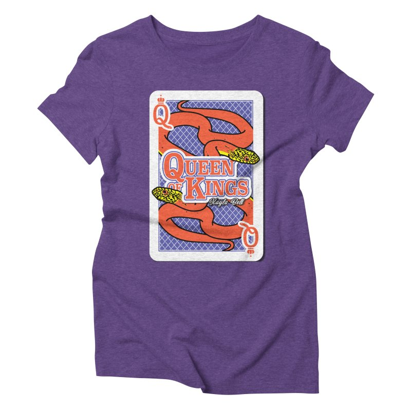 Queen of Kings Women's Triblend T-Shirt by Drawn to Scales