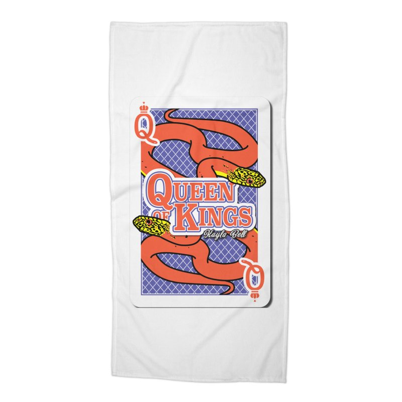 Queen of Kings Accessories Beach Towel by Drawn to Scales