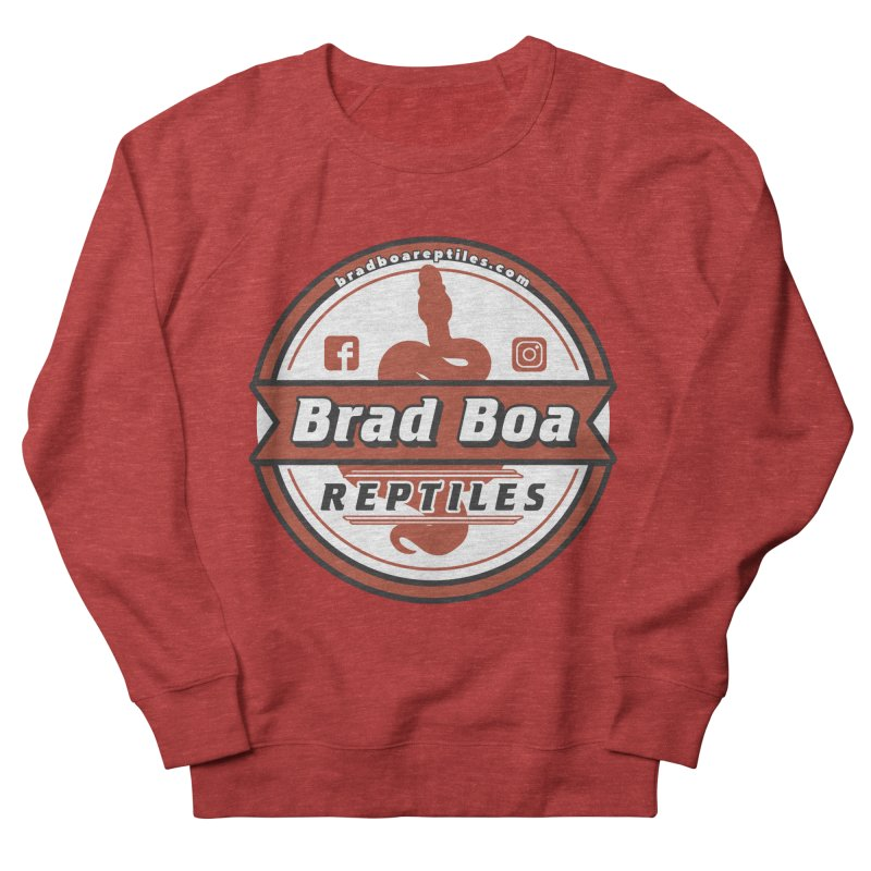 Brad Boa Reptiles Men's French Terry Sweatshirt by Drawn to Scales