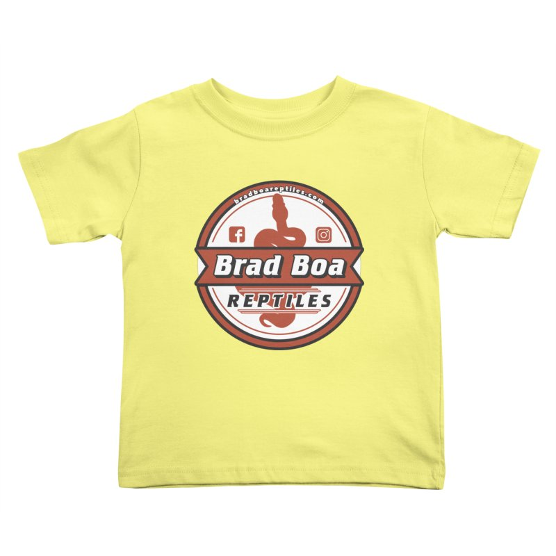 Brad Boa Reptiles Kids Toddler T-Shirt by Drawn to Scales