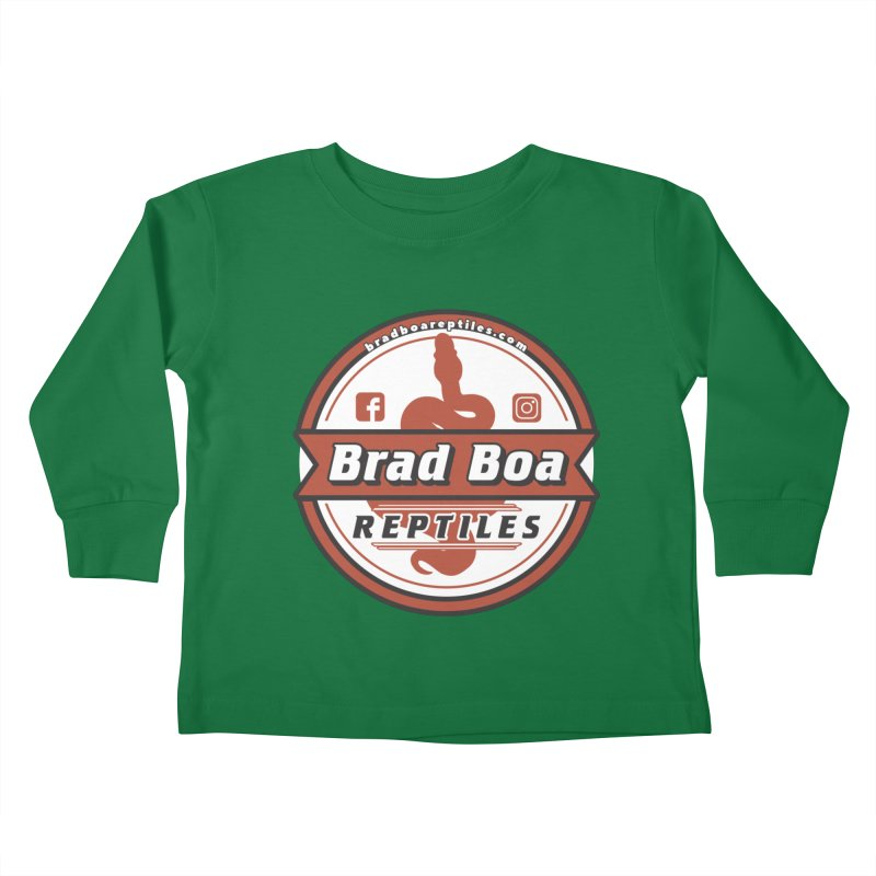 Brad Boa Reptiles Kids Toddler Longsleeve T-Shirt by Drawn to Scales