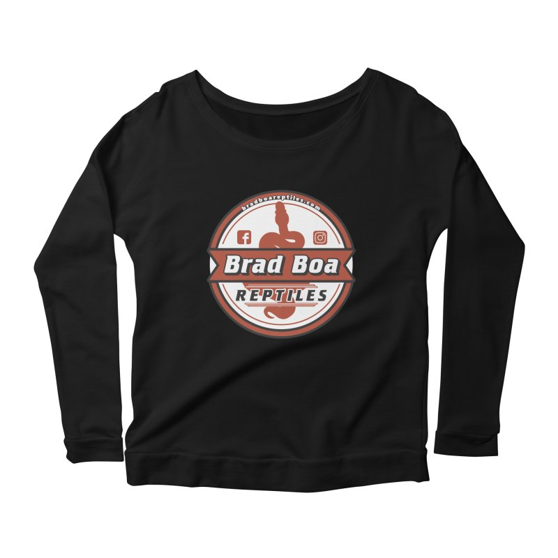 Brad Boa Reptiles Women's Scoop Neck Longsleeve T-Shirt by Drawn to Scales