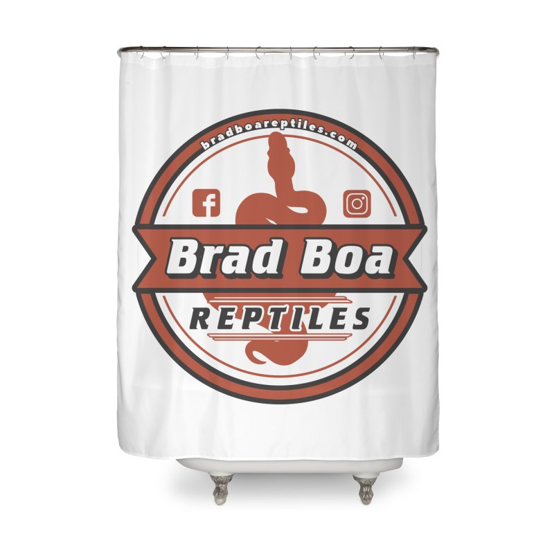 Brad Boa Reptiles Home Shower Curtain by Drawn to Scales