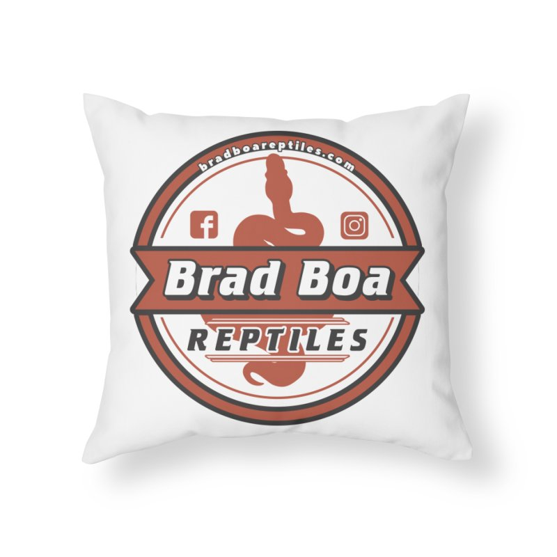 Brad Boa Reptiles Home Throw Pillow by Drawn to Scales