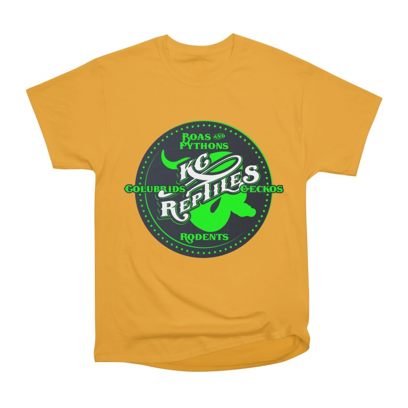 KC Reptiles Men's Heavyweight T-Shirt by Drawn to Scales