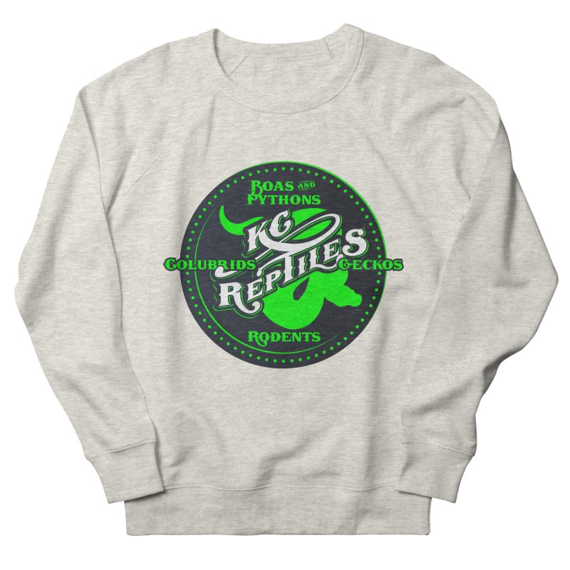 KC Reptiles Men's French Terry Sweatshirt by Drawn to Scales