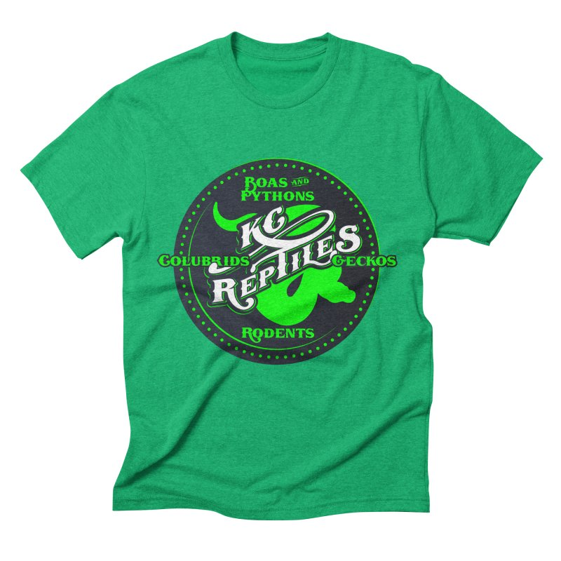 KC Reptiles Men's Triblend T-Shirt by Drawn to Scales