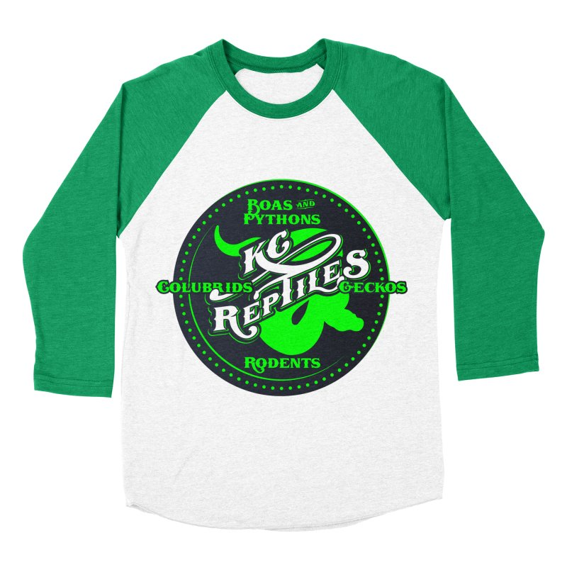 KC Reptiles Women's Baseball Triblend Longsleeve T-Shirt by Drawn to Scales