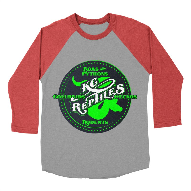 KC Reptiles Men's Baseball Triblend Longsleeve T-Shirt by Drawn to Scales