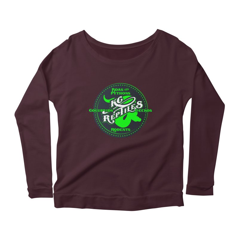 KC Reptiles Women's Scoop Neck Longsleeve T-Shirt by Drawn to Scales