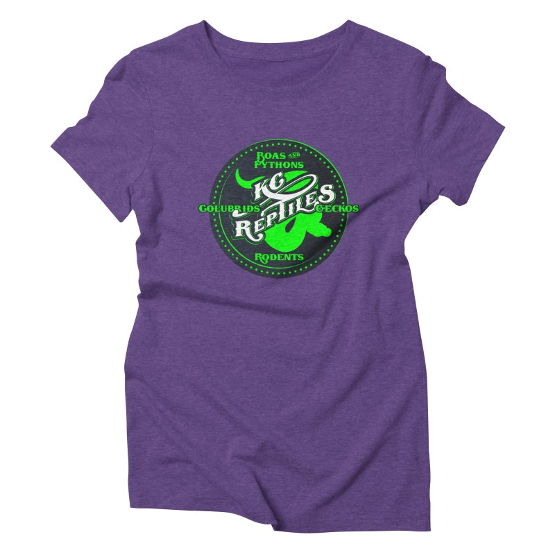 KC Reptiles Women's Triblend T-Shirt by Drawn to Scales