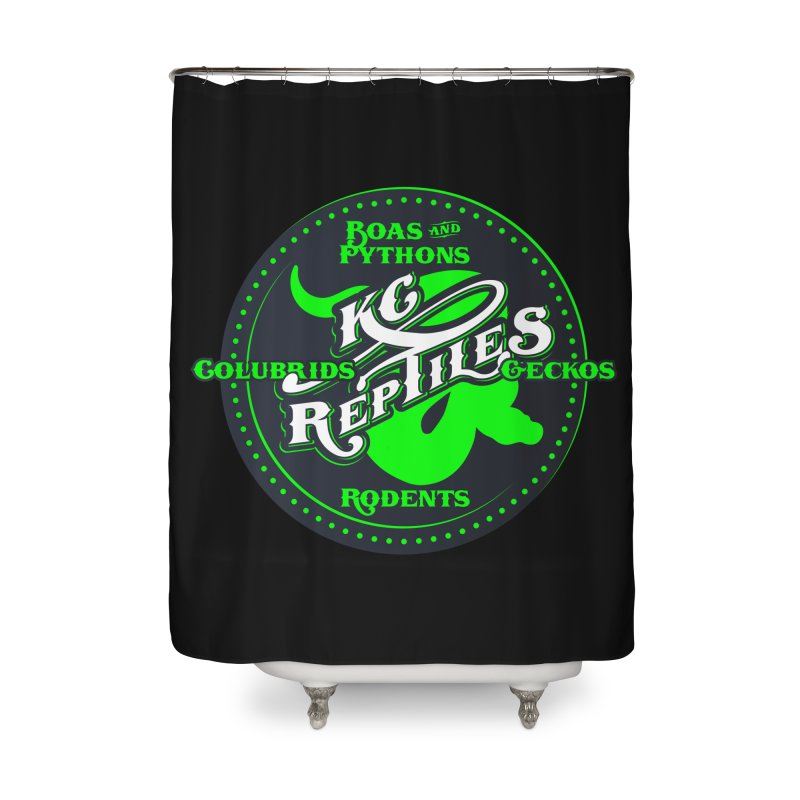 KC Reptiles Home Shower Curtain by Drawn to Scales