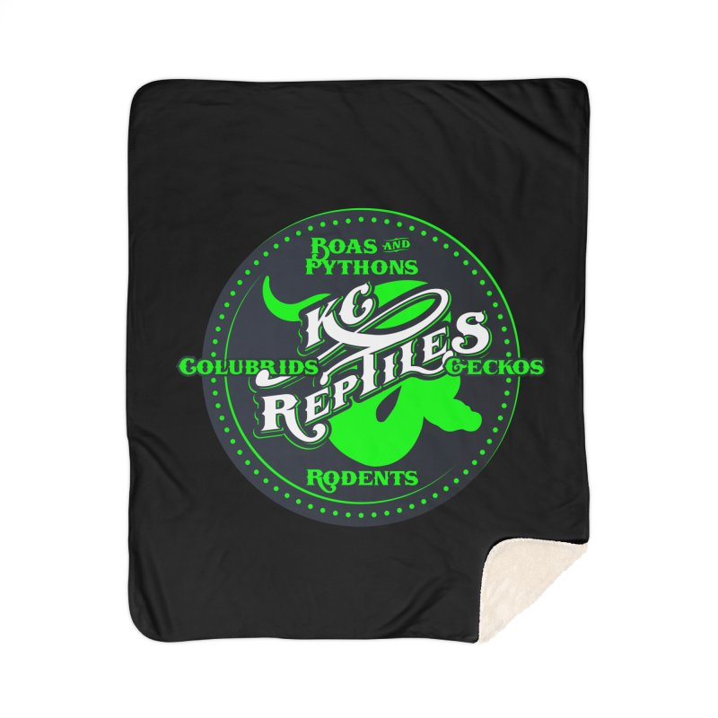 KC Reptiles Home Sherpa Blanket Blanket by Drawn to Scales