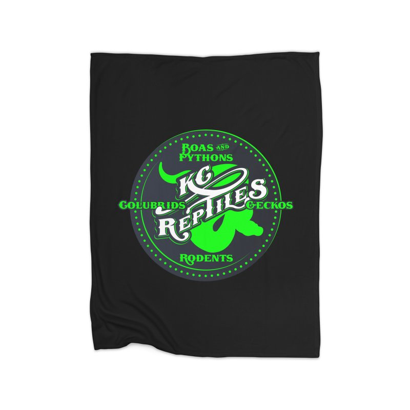 KC Reptiles Home Fleece Blanket Blanket by Drawn to Scales