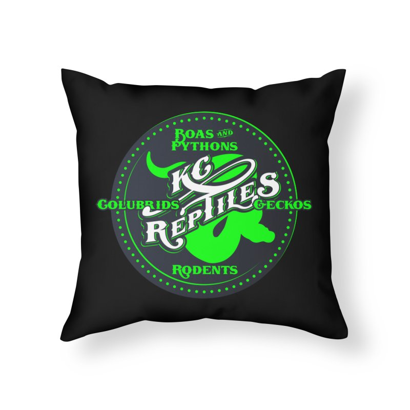 KC Reptiles Home Throw Pillow by Drawn to Scales