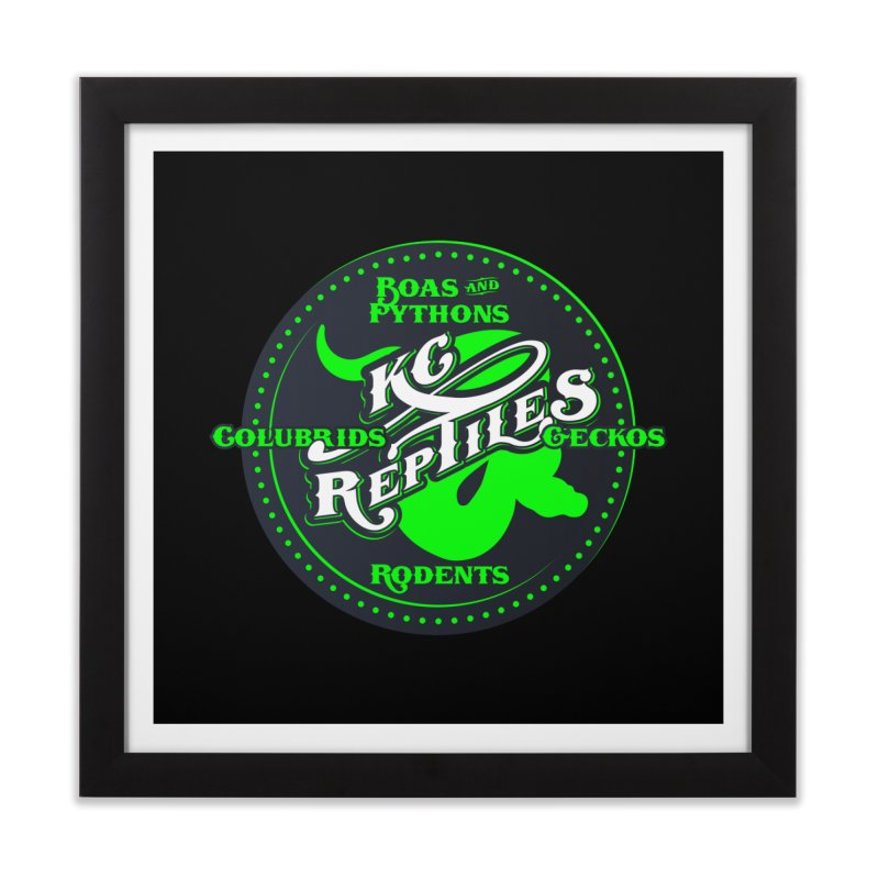KC Reptiles Home Framed Fine Art Print by Drawn to Scales