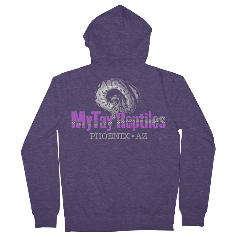 MyTy Reptiles Men's French Terry Zip-Up Hoody by Drawn to Scales