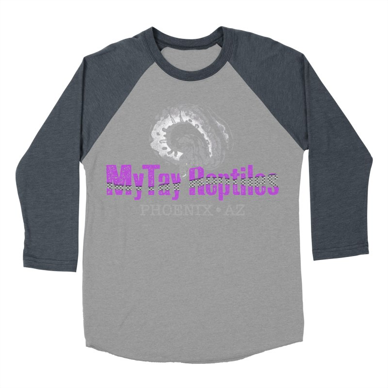 MyTy Reptiles Men's Baseball Triblend Longsleeve T-Shirt by Drawn to Scales