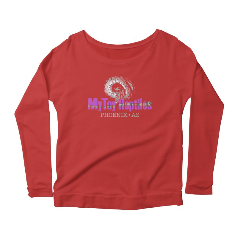 MyTy Reptiles Women's Scoop Neck Longsleeve T-Shirt by Drawn to Scales