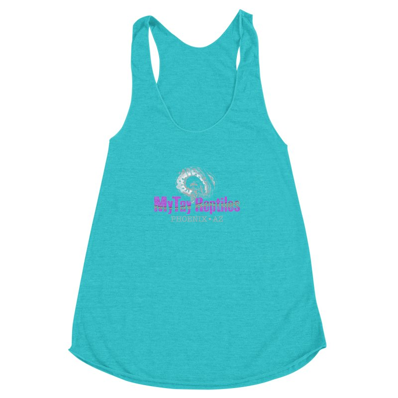 MyTy Reptiles Women's Racerback Triblend Tank by Drawn to Scales
