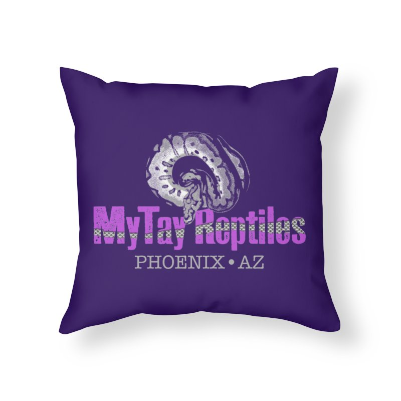 MyTy Reptiles Home Throw Pillow by Drawn to Scales