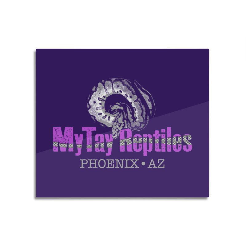 MyTy Reptiles Home Mounted Aluminum Print by Drawn to Scales