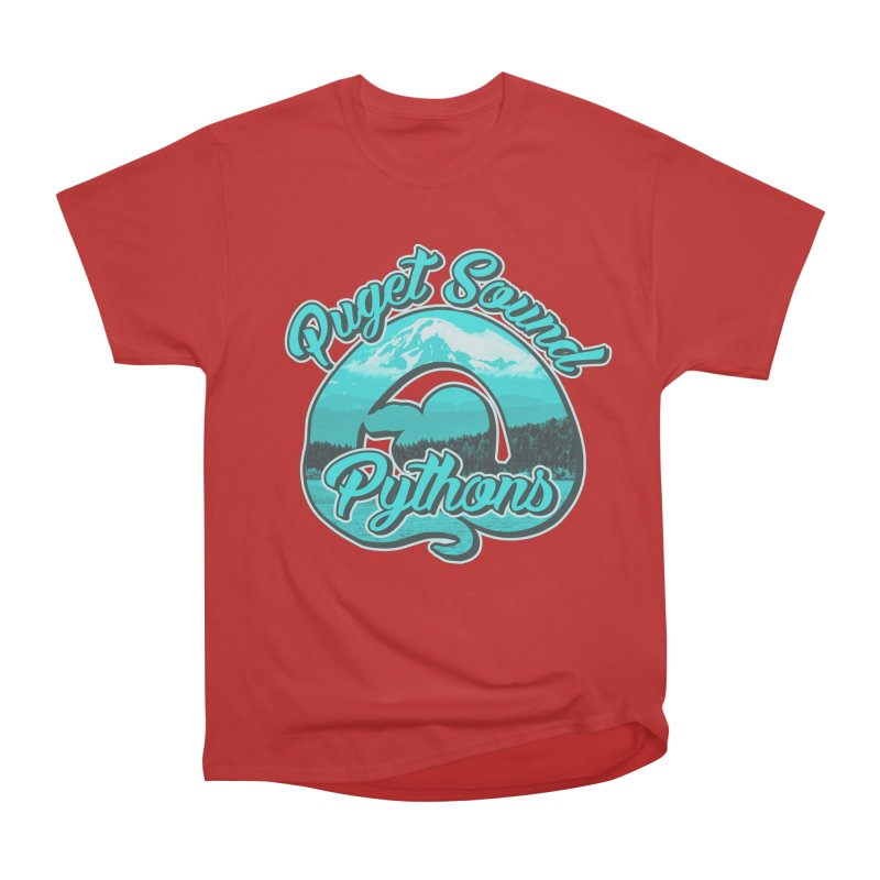 Puget Sound Pythons Women's Heavyweight Unisex T-Shirt by Drawn to Scales