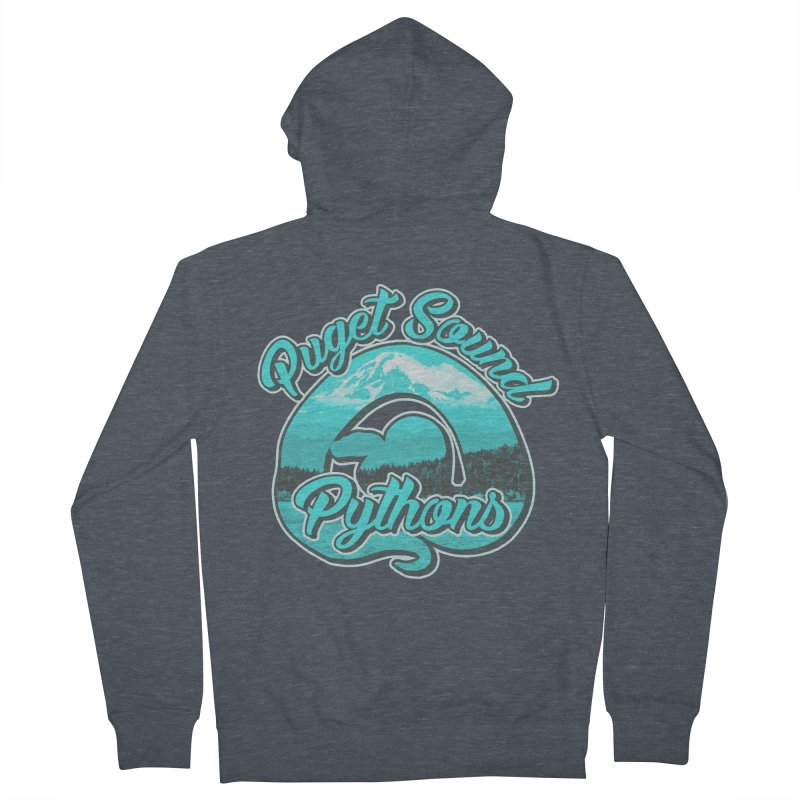 Puget Sound Pythons Men's French Terry Zip-Up Hoody by Drawn to Scales