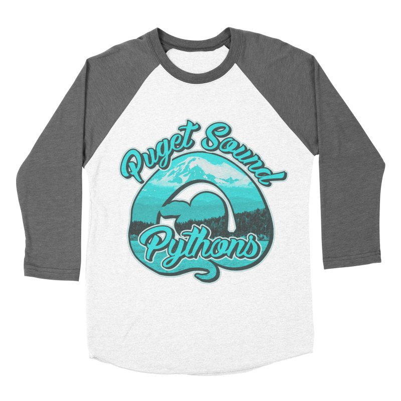 Puget Sound Pythons Women's Baseball Triblend Longsleeve T-Shirt by Drawn to Scales