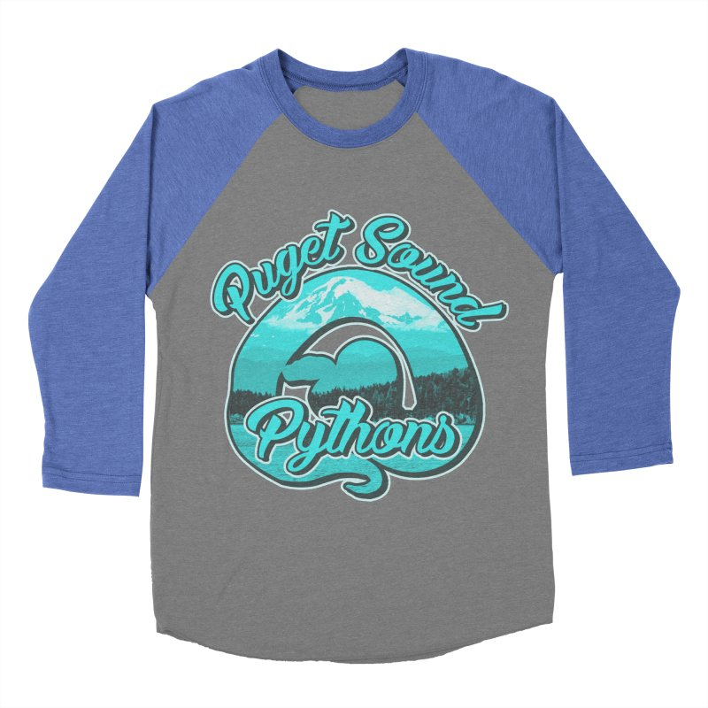 Puget Sound Pythons Men's Baseball Triblend Longsleeve T-Shirt by Drawn to Scales