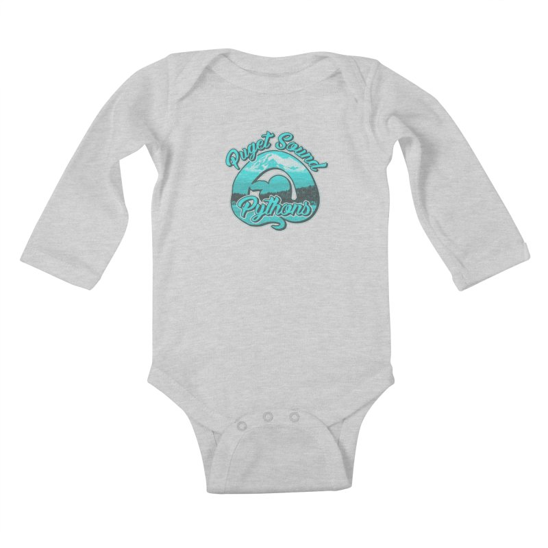 Puget Sound Pythons Kids Baby Longsleeve Bodysuit by Drawn to Scales