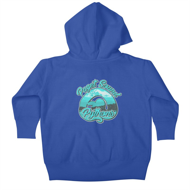Puget Sound Pythons Kids Baby Zip-Up Hoody by Drawn to Scales