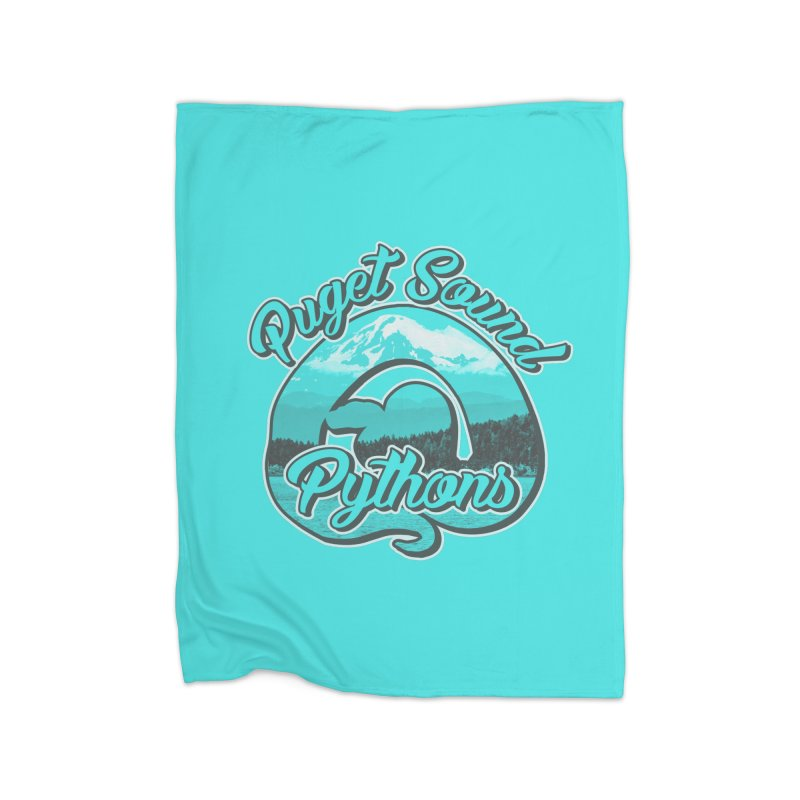 Puget Sound Pythons Home Fleece Blanket Blanket by Drawn to Scales