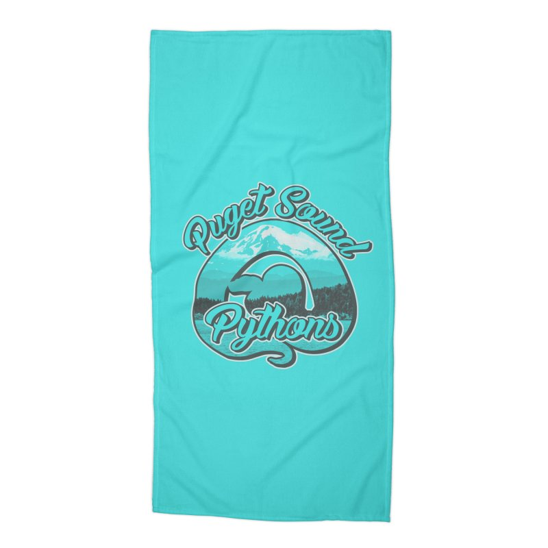 Puget Sound Pythons Accessories Beach Towel by Drawn to Scales