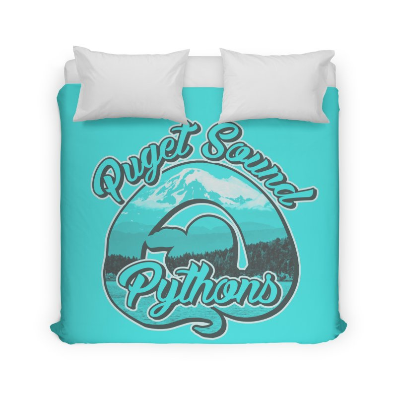 Puget Sound Pythons Home Duvet by Drawn to Scales
