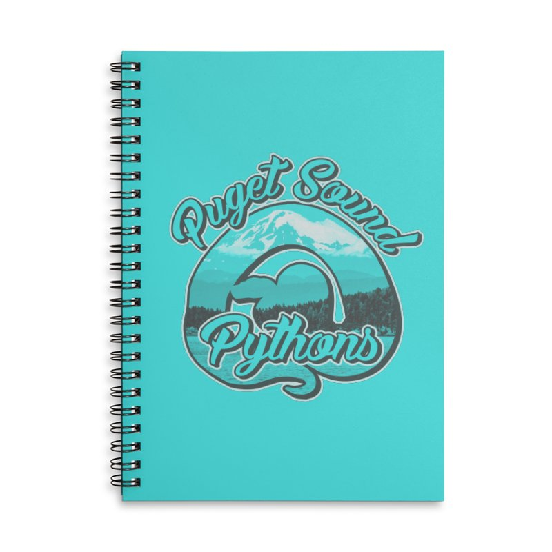 Puget Sound Pythons Accessories Lined Spiral Notebook by Drawn to Scales