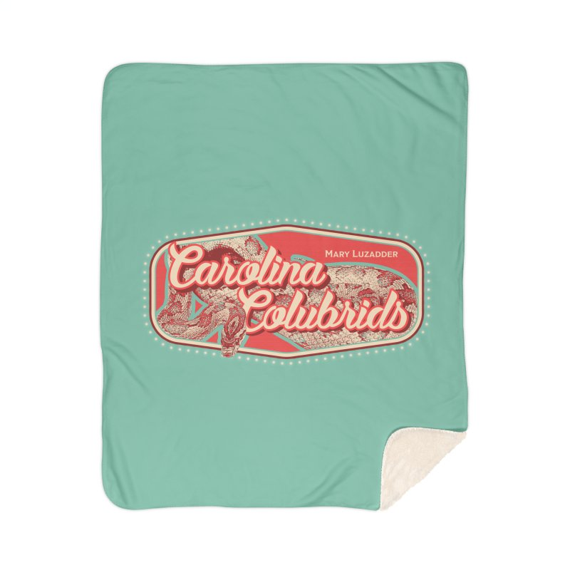 Carolina Colubrids Home Sherpa Blanket Blanket by Drawn to Scales