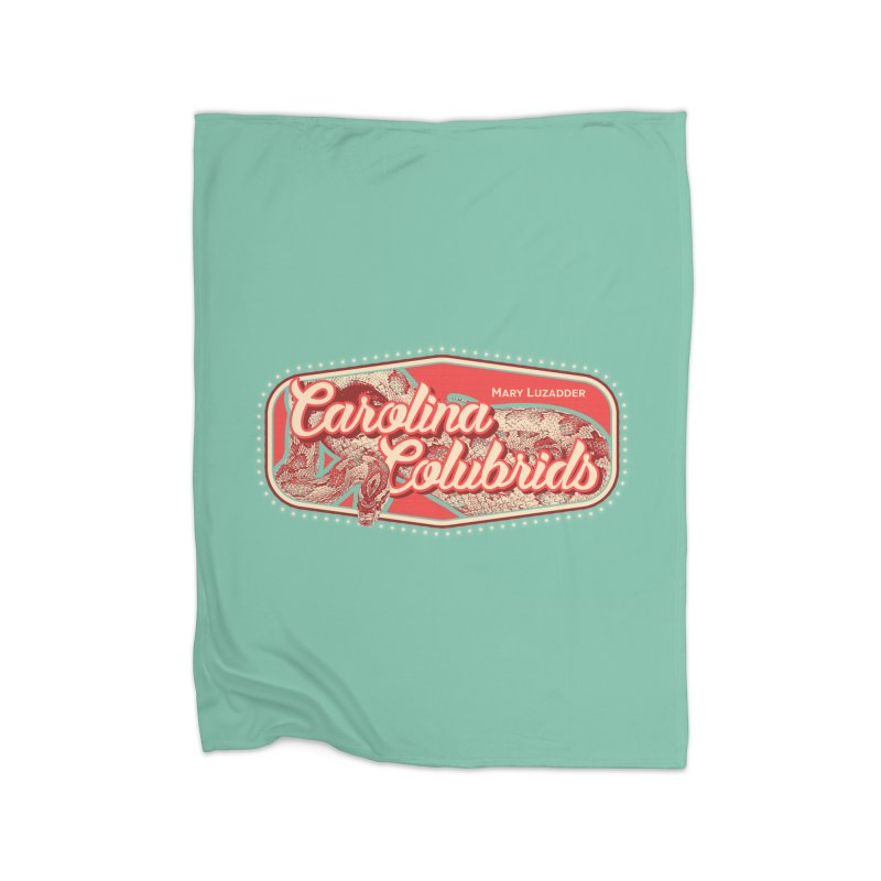Carolina Colubrids Home Fleece Blanket Blanket by Drawn to Scales