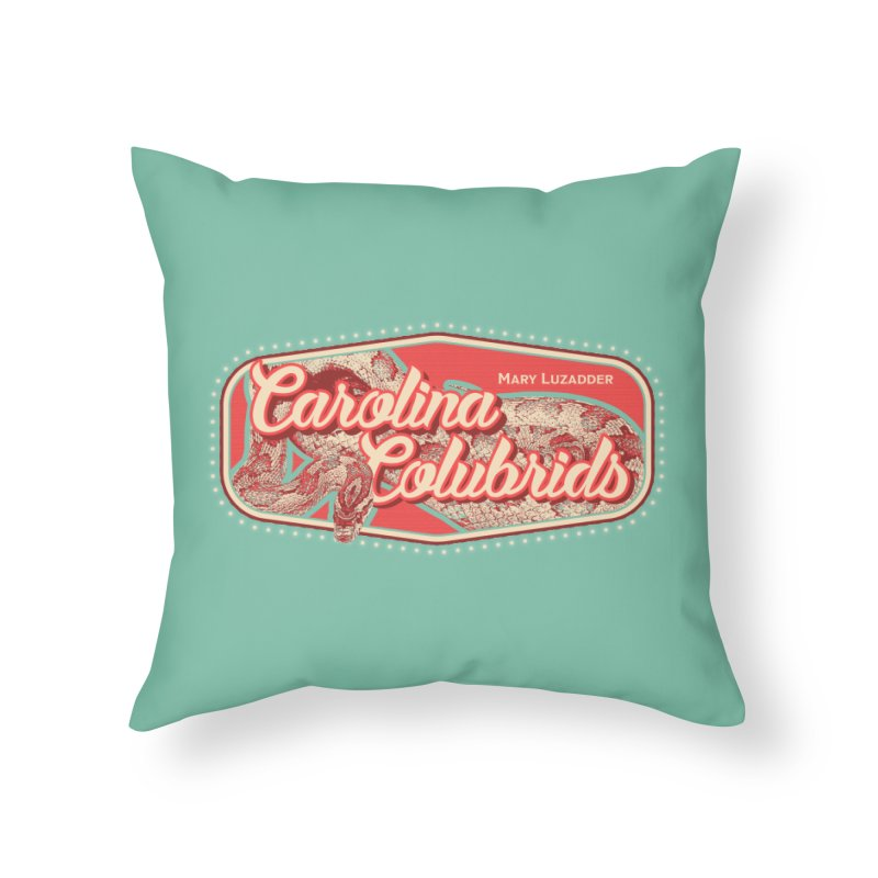 Carolina Colubrids Home Throw Pillow by Drawn to Scales