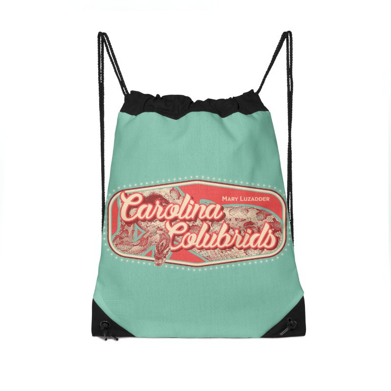 Carolina Colubrids Accessories Drawstring Bag Bag by Drawn to Scales