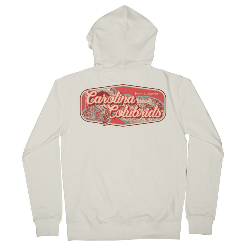 Carolina Colubrids Men's French Terry Zip-Up Hoody by Drawn to Scales