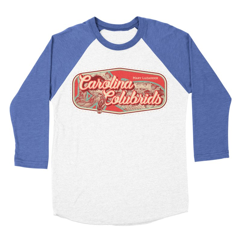 Carolina Colubrids Men's Baseball Triblend Longsleeve T-Shirt by Drawn to Scales