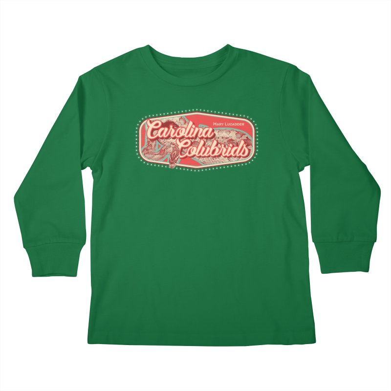 Carolina Colubrids Kids Longsleeve T-Shirt by Drawn to Scales