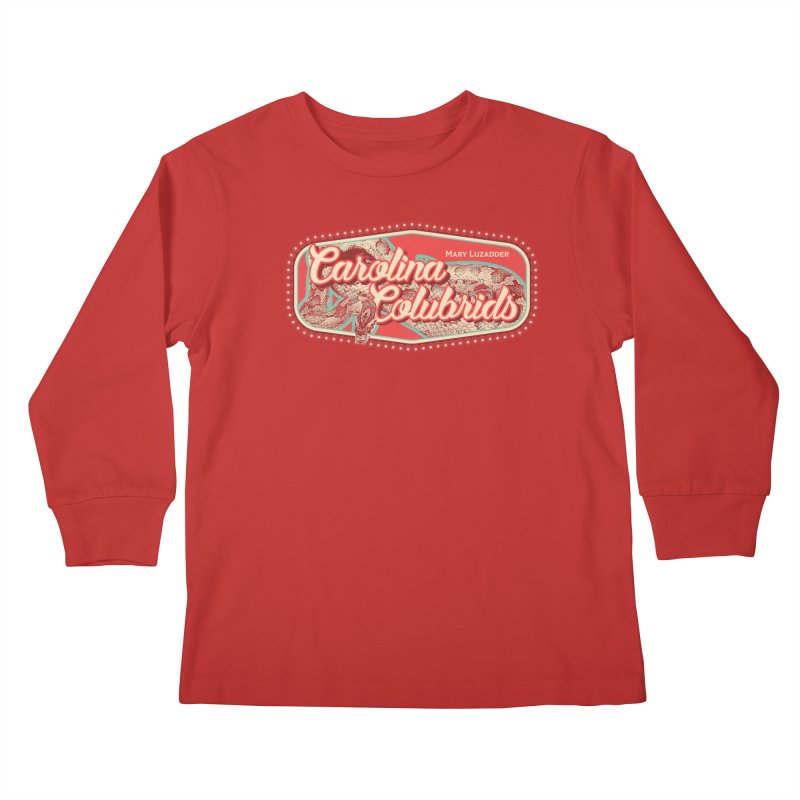 Carolina Colubrids Kids Longsleeve T-Shirt by Drawn to Scales