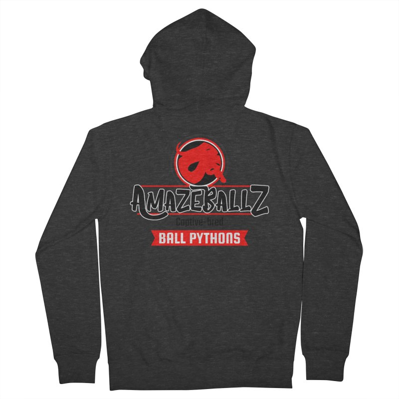 AmazeBallz Men's French Terry Zip-Up Hoody by Drawn to Scales
