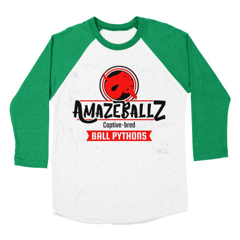 AmazeBallz Women's Baseball Triblend Longsleeve T-Shirt by Drawn to Scales