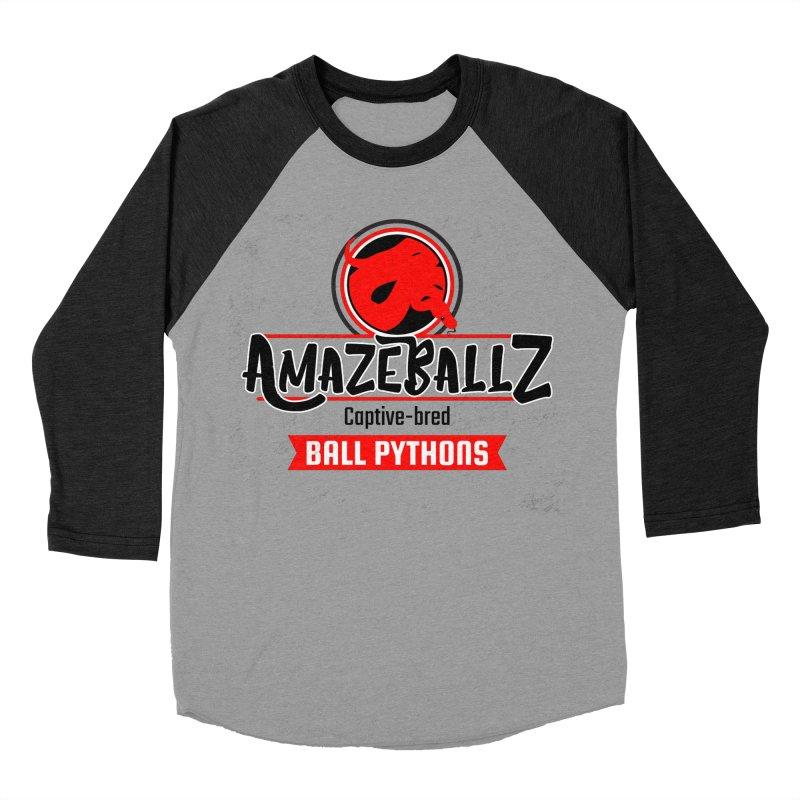 AmazeBallz Women's Baseball Triblend Longsleeve T-Shirt by Drawn to Scales