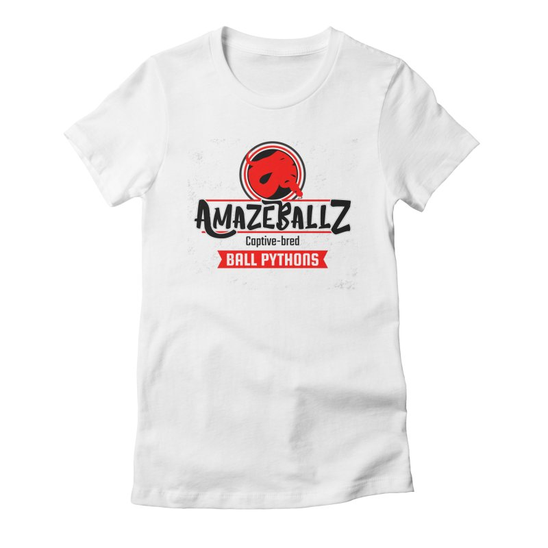 AmazeBallz in Women's Fitted T-Shirt White by Drawn to Scales